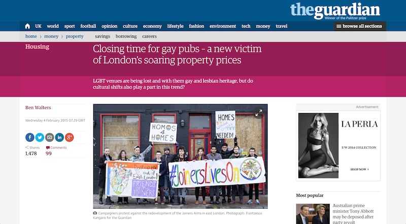 resulting in the closure of gay venues